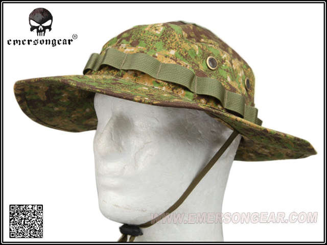 0066babf953 placeholder EMERSON Bucket Hat Tactical Hunting Fishing Outdoor Cap - Wide  Brim Military Boonie Hat Greenzone Hunting
