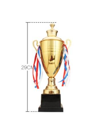Лидер продаж Спортивная награды премии Чашки золотистые металлические Кубка Баскетбол спортивные трофеи наградных медалей 29 см высота