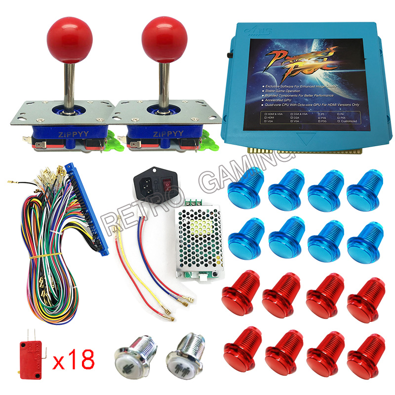 DIY arcade cabinet kit with 645 in 1 PCB Jamma board Wire ...