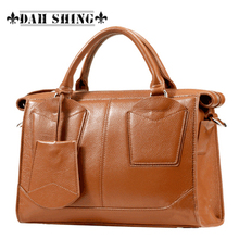 Fashion motorcycle 100% genuine leather women's handbag cowhide shoulder bag messenger bag travel bag zipper closure