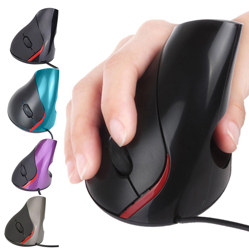 Wired Vertical Mouse Superior Ergonomic Design Mice 5 Buttons Optical USB Mouse for Gaming QJY99