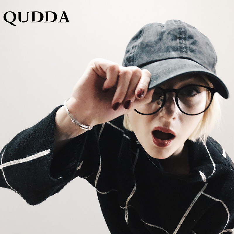 QUDDA 2018 Washed  Baseball Cap Fitted Snapback Adjustable Simple Solid Hats For Men Women Bone Gorras Casquette Chapeu Couple
