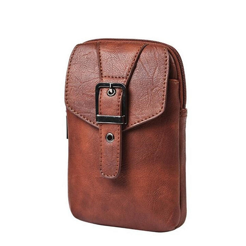 2017 New Multifunction Men Bag High Quality PU Leather Shoulder For Men Hook Pack Small Casual Travel Bag For Phone Coin