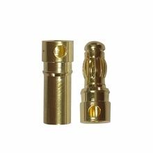 20 шт./лот 3.5 мм Золотая Пуля банан разъем для батареи ESC двигателя (10 пара)