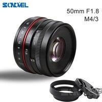 新しい50ミリメートルf/1.8 aps-c f1.8カメラレンズ用オリンパスパナソニックm43 mft ep5 omd em5 e-m1 eマークii d e-m5 e-m5