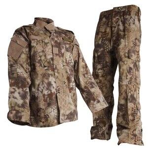 CQC Airsoft Tactical wojskowy kamuflaż wojskowy BDU jednolita koszula bojowa i zestaw spodni Outdoor Paintball odzież myśliwska Highlander