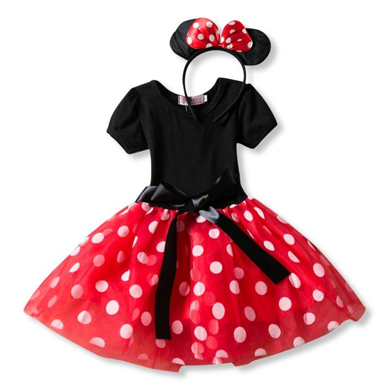 Fancy New Year Baby Girl Carnival Santa Dress For Girls Summer Minnie Mouse Holiday Children Clothing Party Tulle Kids Costume
