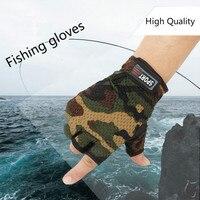 Respirável 3 dedo corte luvas de pesca anti deslizamento ao ar livre esportes gants peche anti corte pesca acessório