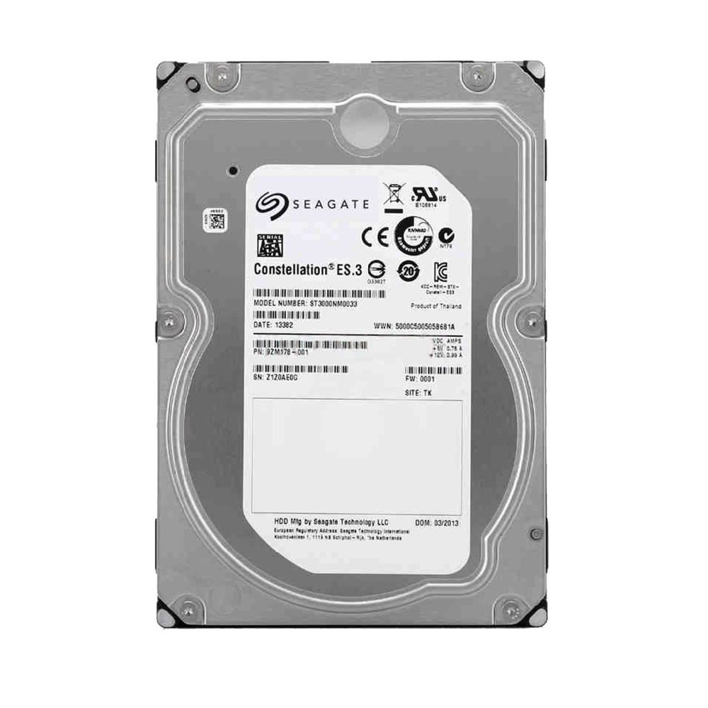 Seagate ST3000NM0033 3TB Enterprise Capacity <font><b>HDD</b></font> <font><b>SATA</b></font> 6Gb/s 128MB Cache <font><b>3.5</b></font>-Inch Internal Bare Drive image