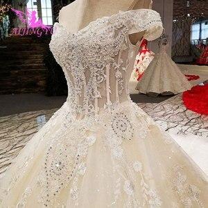 Image 3 - AIJINGYU свадебное платье, реальные образцы, цвета слоновой кости, Гуанчжоу, свадебные платья принцесс