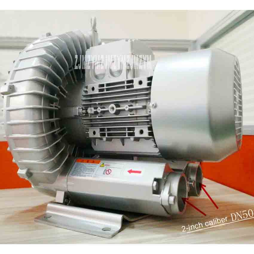 New Arrival RT-H714BS High Pressure Vortex Fan Aerator Blower Suction Pump Vacuum Pump Vortex Blower 4KW 380V 2850r/min 318m3/h new arrival high pressure blower ring vortex blower high prssure air pump 2rb230 7ah160 220v 380v