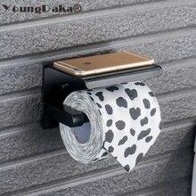 SUS 304 Нержавеющая сталь Черный и зеркальный хромированный выбор держатель для туалетной бумаги бумажная коробка рулон держатель для бумаги аксессуары для ванной комнаты