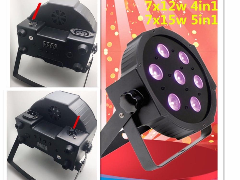 NEW CREE RGBWA 7x15 W LED Flat SlimPar Luce 5in1 RGBWA LED DJ Wash Stage Light