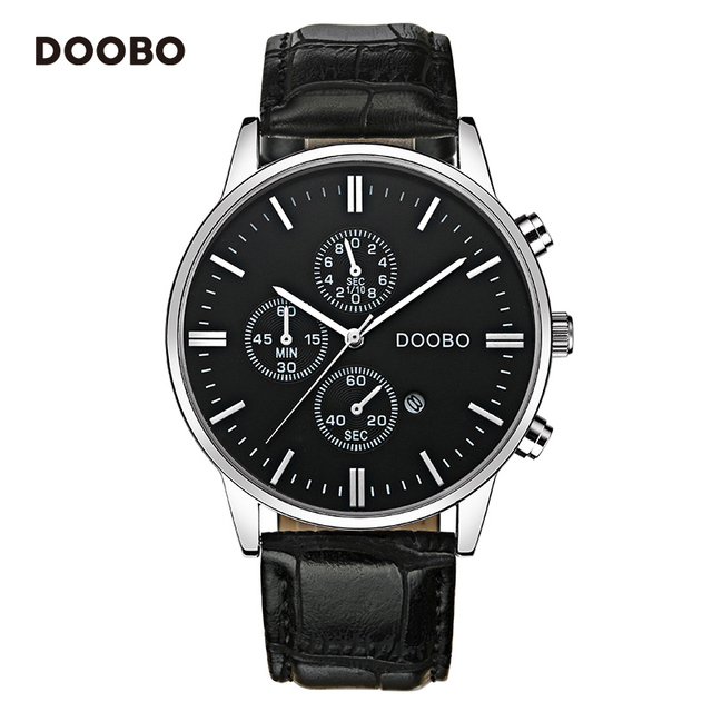 DOOBO Luxury Brand Military Business Watches Men Quartz-Watch Analog Leather Clock Man Sports Army Watches Relogios Masculino
