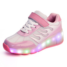 New Summer Travel Shoes Children Adult Hip Hop Shoes Boy Mesh Coconut LED Luminous Ghost Dance Skating Shoes Girl