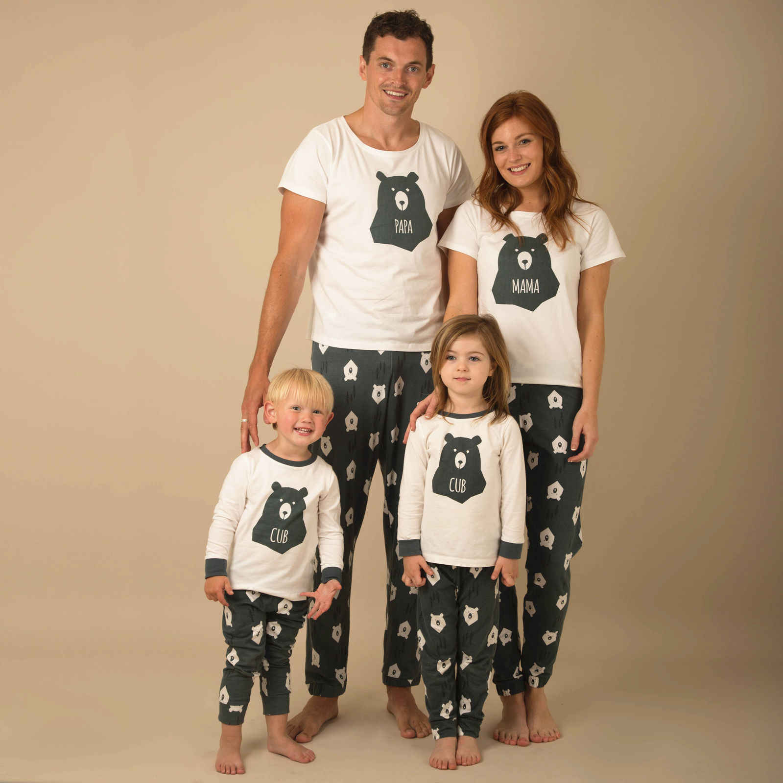2748a1a8ae Winter Warm Christmas Bear Printing Pyjamas Matching Family PJs Nightwear  Adult Mum Dad Kid