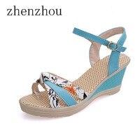 Women S Shoes 2017 Summer Style Women Sandals Wedge Female Sandals High Platform Wedges Platform Open
