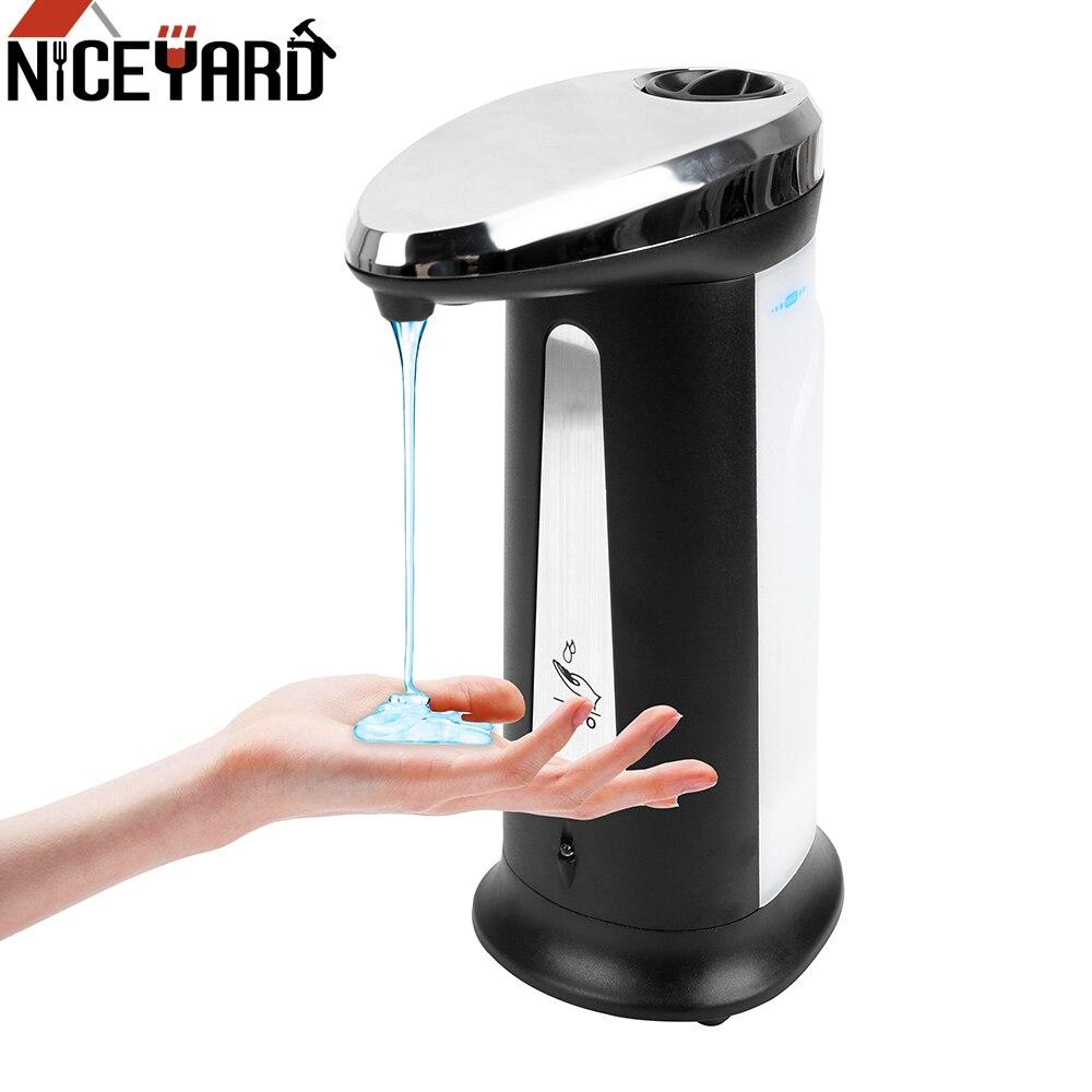 400 Ml เครื่องจ่ายสบู่เหลวอัตโนมัติอัจฉริยะเซนเซอร์ Touchless มือทำความสะอาดอุปกรณ์ห้องน้ำ Sanitizer Dispenser