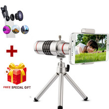 18X Len Telephoto Lens Mobile Phone 18x Zoom+fisheye For iPhone 6 6S  For Samsung Galaxy S6/Edge S7  LG G5 huawei mate 9 pro
