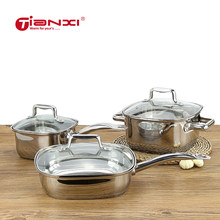 Pentolame E Utensili Per Cucinare set Pentole di Zuppa In Acciaio Inox Pentola di Latte Padella cooking Pot set Da Cucina fornello di induzione pentole e padelle Antiaderente pan(China)