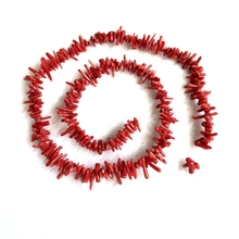 цена на Wholesale 1strings Natural Red Coral Chips Beads 2x8mm Tiny Chips  Beads Coral Chips For Jewelry Making 15.5/string