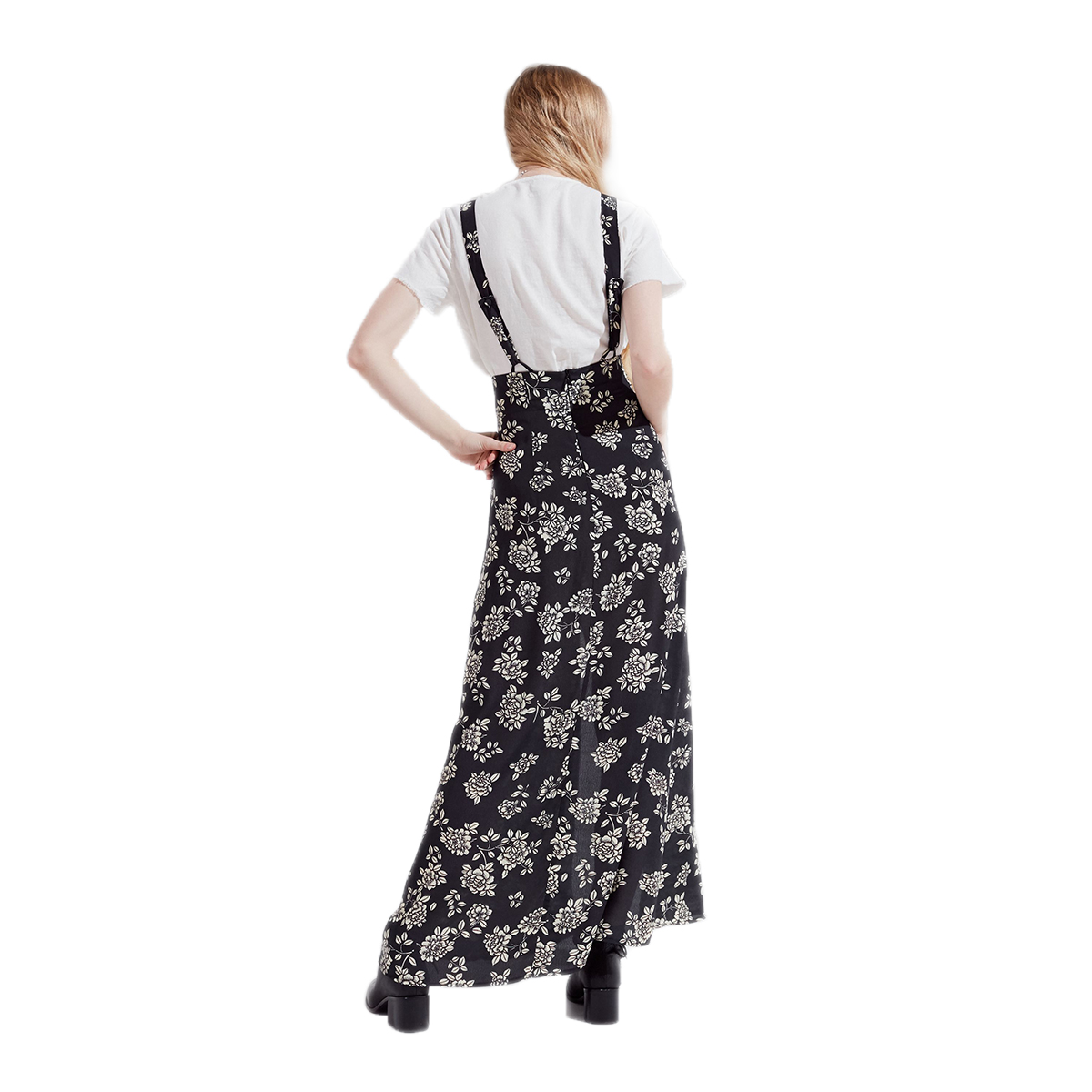 HDY Haodyoyi Print Chiffon Vintage Elegant Braces Asymmetrical Empire Comfortable Light High Looking Contracted Dress in Dresses from Women 39 s Clothing