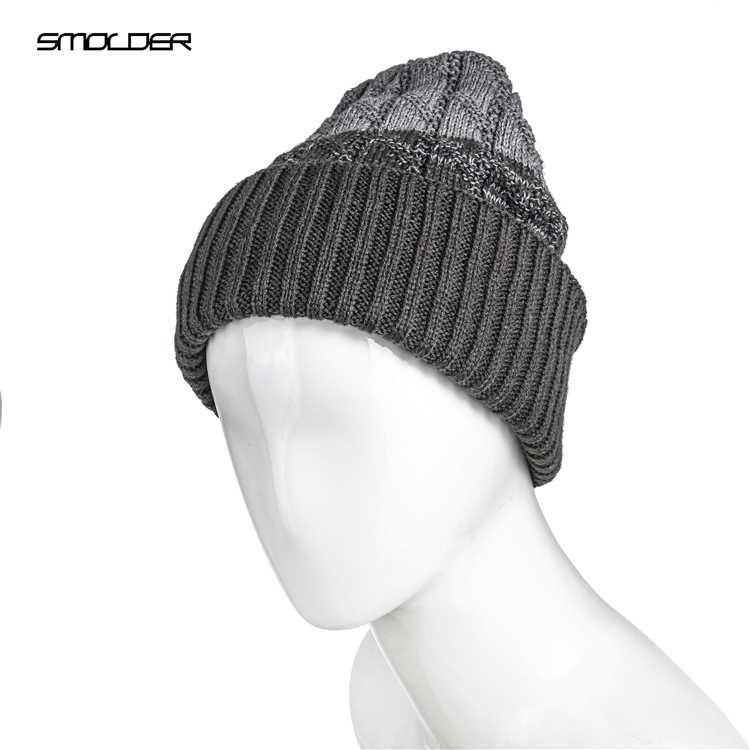 [Smder] 2019 النساء الرجال محبوك لينة الأذن دفئا الصوف الهيب البوب القبعات شريط اللون قبعات دافئة Gorras