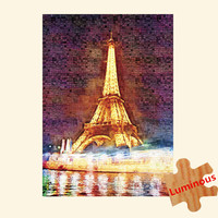 Wooden Jigsaw Puzzle, 1000 pieces of adult luminous stars, landscape paintings, puzzle puzzles, toy towers, pressure drop gifts