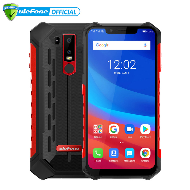 "Ulefone Armor 6 IP69K Waterproof Mobile Phone Android 8.1 6.2"" FHD+ Octa Core 6GB+128GB NFC Face ID Wireless Charge Smartphone"