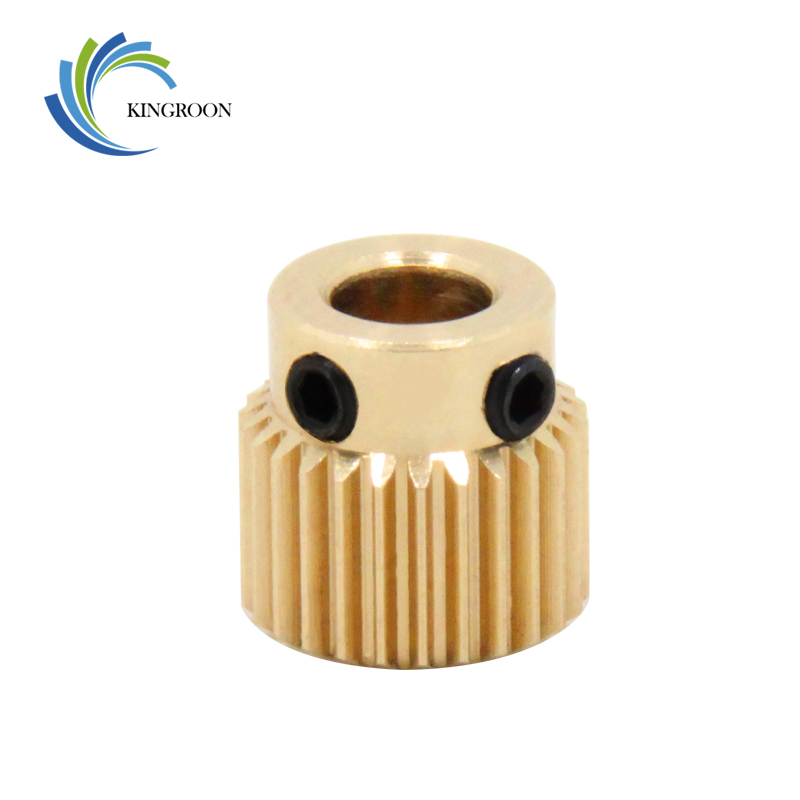 Copper Extrusion Head Gear 26 Tooth Bore 5mm 3D Printers Accessories Parts Diameter 11mm For MK8 Extruder Part 26Teeth Brass цены