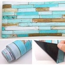 color mitation wood board living room bedroom wallpaper wall sticker kitchen oilproof bathroom waterproof