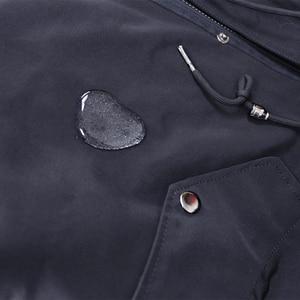 Image 5 - OFTBUY Parka larga impermeable para mujer, abrigo de piel auténtica, chaqueta de invierno, capucha de piel de mapache, forro de piel de zorro cálido y desmontable
