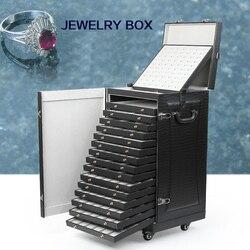 Professionele sieraden doos, sieraden opbergdoos sieraden doos, sieraden met cargo bagage, business custom speciale doos
