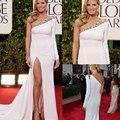 Moda 70a premios globo de oro vestido de un hombro manga larga Heidi Klum celebridad de la tarde vestidos con cuentas