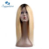 Sapphire Haar Brasilianischen Spitzefront Menschliches Haar Perücken Für Schwarze Frauen 22