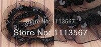 Großhandel 30 yards 1Row Schwarz Organza Stretch Sequin Perlen Spitze Trimmen Nähen Lieferanten Nähen Trim 23mm T42