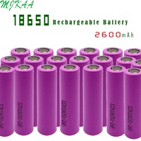 High Quality Icr18650 Lithium 2600mah 3.7 V Li ion Rechargeable Pkcell Flat Top Batteries For Toys Tools Fashlight