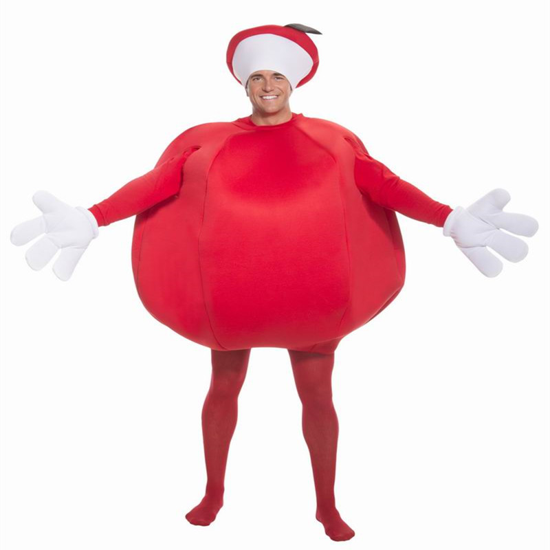 red apple costume for adults funny costume for adults funny halloween costume adult funny fruit costume - Halloween Costumes Prices