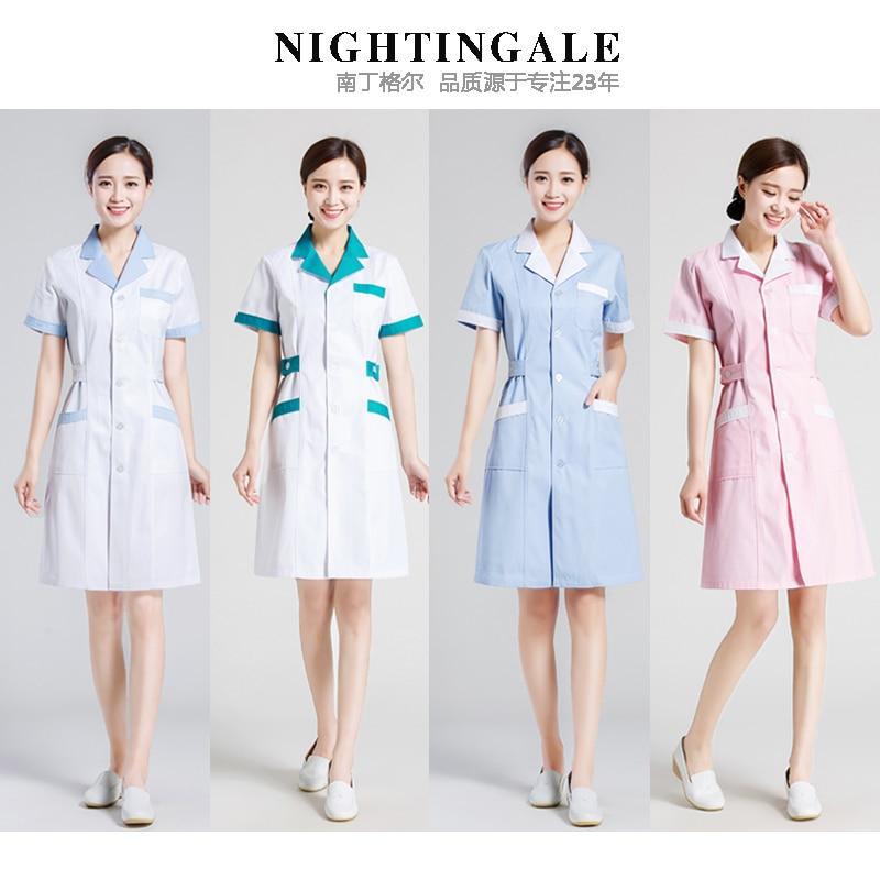 Long Sleeve Short Sleeve Ladies White Medical Jackets Nurse Clothes Uniforms Medical Laundry White Labs Jacket Hospital
