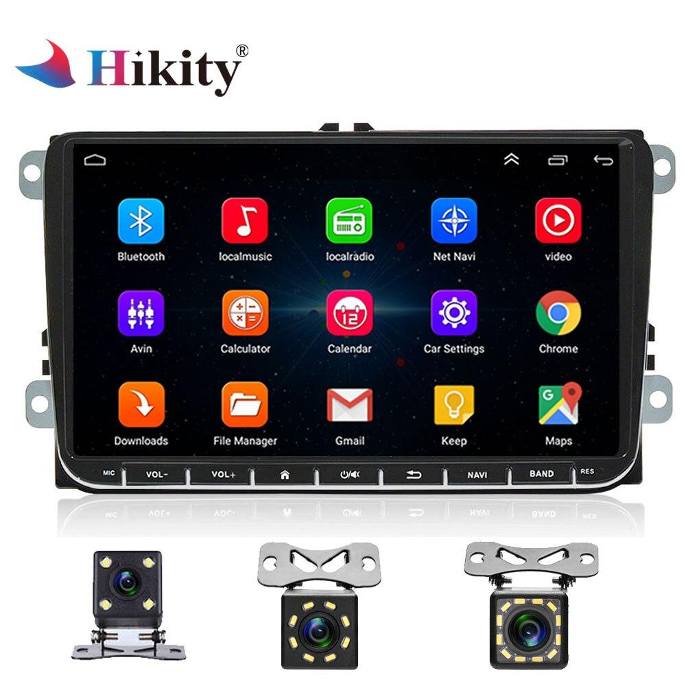"Hikity 9 ""2 Дин Радио Android gps навигации мультимедийный плеер для VW Golf Passat MK6 Jetta поло Touran seat WI-FI бесплатная карта"
