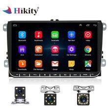 Hikity 9 «2 Din автомобильный радиоприемник андроид gps навигации мультимедийный плеер для VW Passat Golf MK6 для Golf, jetta, POLO Touran seat WI-FI бесплатная карта