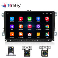 Hikity 9 2 Din Car Radio Android GPS Navigation Multimedia player for VW Passat Golf MK6 Jetta POLO Touran Seat WIFI Free map