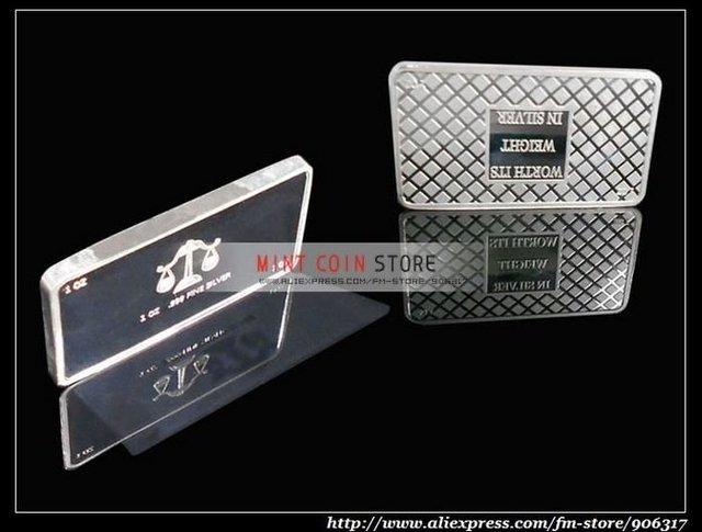1 Ounce Silver Plated bar 5pcs/lot, wholesale bullion