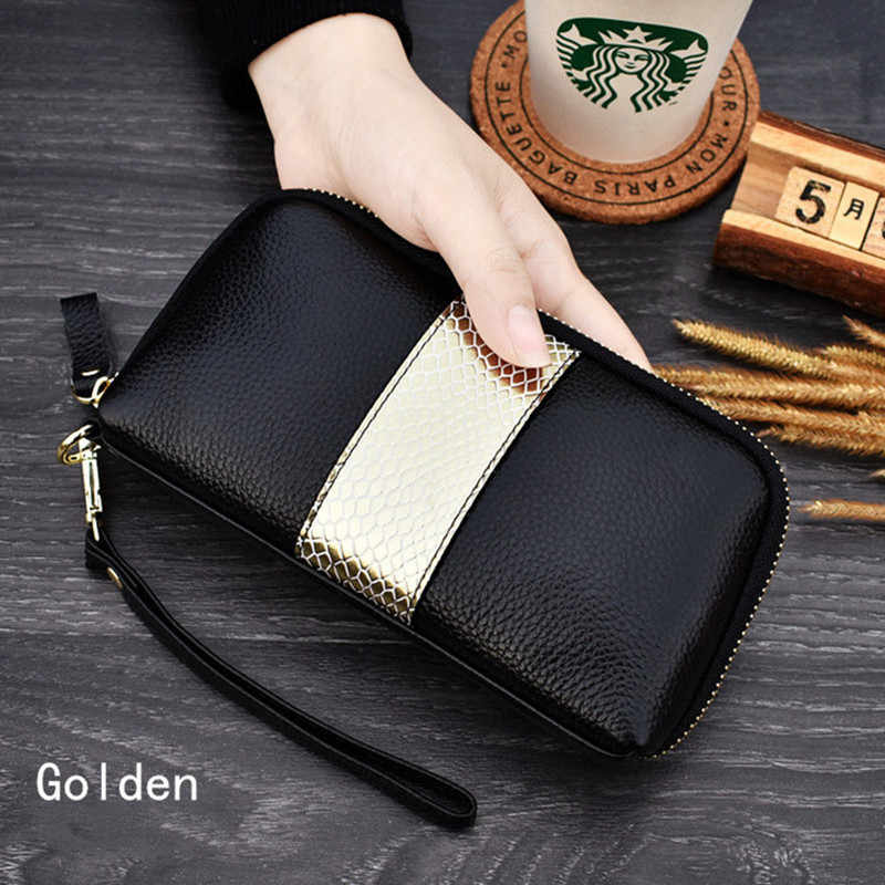 New Hot Sale Women Clutch Wallet Top Quality  Leather Wallets Female Long Wallet Women  Zipper Purse Coin PurseLeather fashion