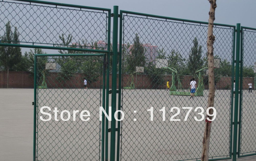 Wire Mesh Fence Gate Bright Color, Single Leaf, 1.5m Height on ...