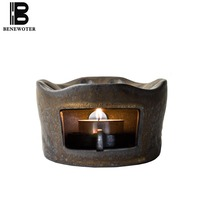 Japanese style Warm Tea Stove Coarse Pottery Vintage Base Kung Fu Tea Set Accessories Teapot Holder Candle Heating Tea Stoves