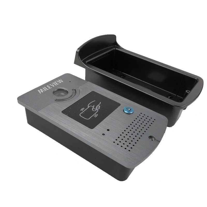 """العلامة التجارية الجديدة 7 """"LCD الفيديو باب الهاتف نظام اتصال داخلي 2 الأبيض مراقب + للماء RFID قارئ كاميرا + التحكم عن بعد شحن مجاني"""