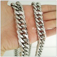 Free Shipping Highly Polished 316L Stainless Steel Silver Classic Chain Fashion Necklaces For Men Boy,Wholesale Factory Price