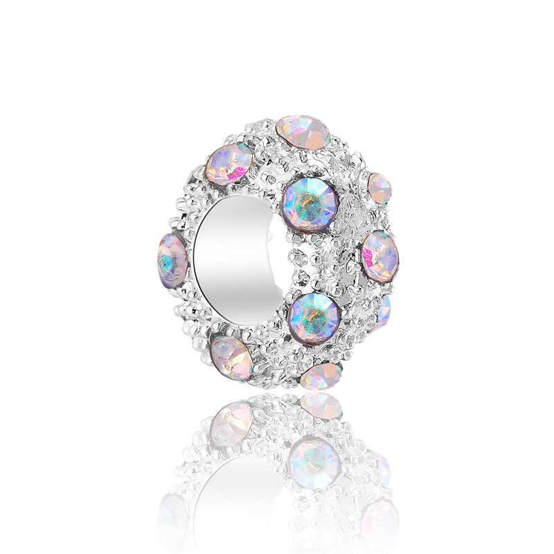 ขายร้อนขนาดเล็ก Hearts Evil Eye ดาวปลาดอกไม้ลูกปัด Charms Fit สร้อยข้อมือ Pandora และกำไลข้อมือสำหรับผู้หญิงวันเกิด DIY perles