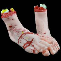 2 PC Halloween Horror Props Bloody Big Size Broken Foot Haunted House Party Decoration Levert Dropship